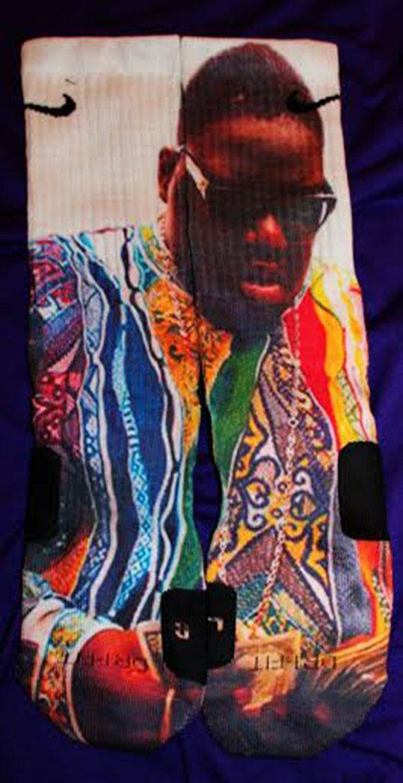 Biggie Coogi Custom Nike Elite Socks Parody by LuxuryElites, $35.99