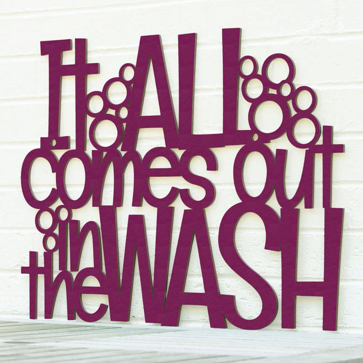 It All Comes Out in the Wash LARGE laundry room by spunkyfluff, $95.00