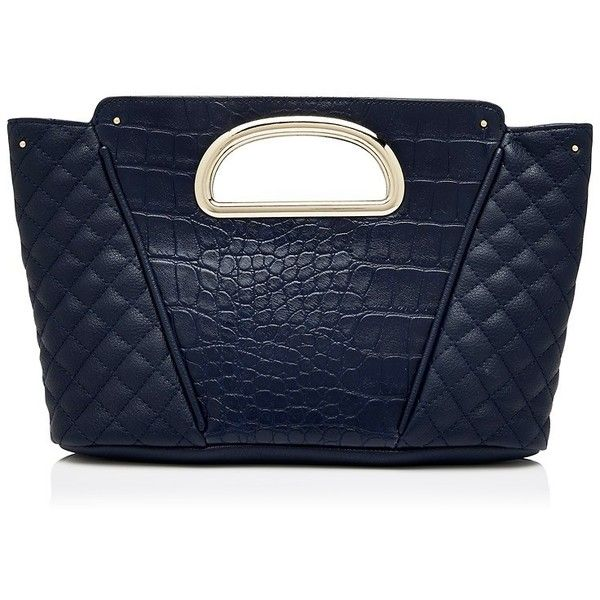 Forever New Cameron Grab Clutch ($16) ❤ liked on Polyvore featuring bags, handbags, clutches, clutches / wallets / purses, navy, top handle purse, blue clutches, navy blue purse, metal purse and blue purse