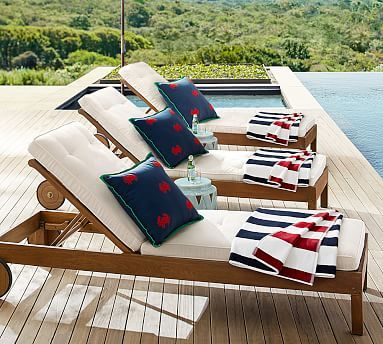 outdoor furniture chatham single chaise potterybarn