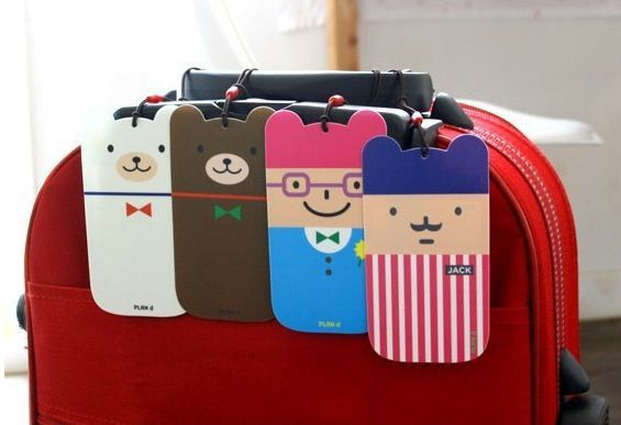 Luggage tags  4 cartoon caracters by MadAboutPink on Etsy, €2.00