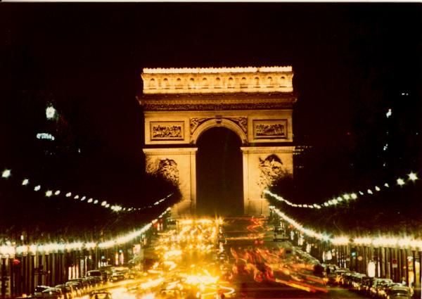 The Arc de Triomphe at Night Photograph
