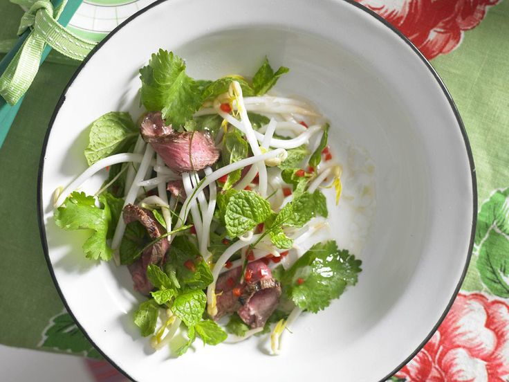 Fragrant and herbaceous Thai beef salad with a sweet, sour and spicy dressing.