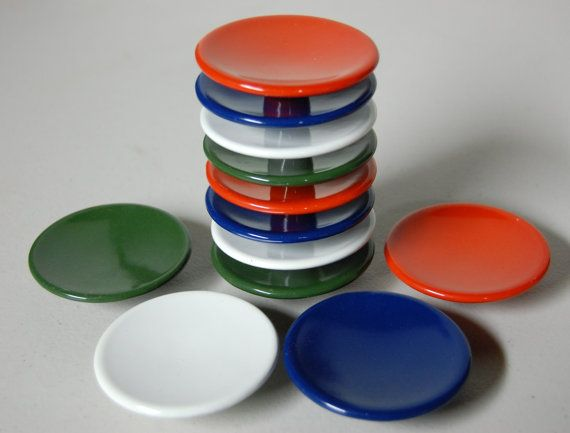 lot of 12 mid century modern enamel cabinet and drawer pulls hardware red green blue white