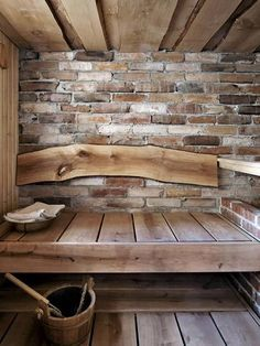 Persoonallinen stone and wood sauna. Labor Junction / Home Improvement / House Projects / Sauna / Cabin / House Remodels / www.laborjunction.com