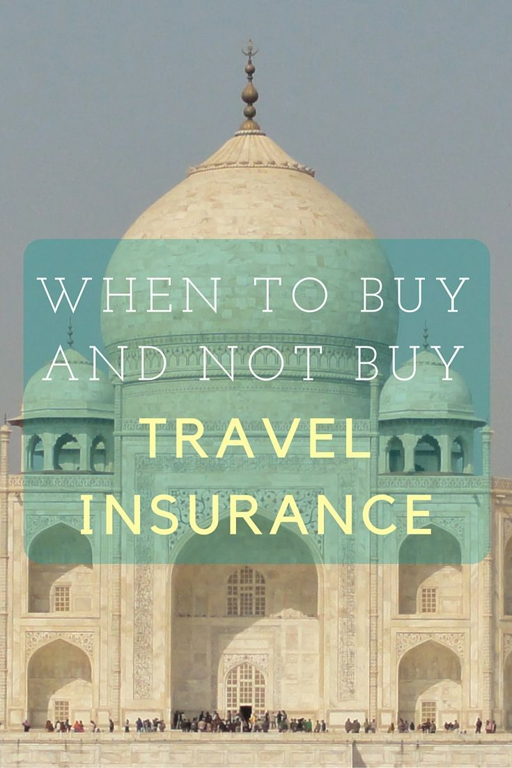 When to Buy (and not buy) Trip Insurance? Always Buy Travel Insurance but Don't Always Buy Trip Insurance http://solotravelerblog.com/when-to-buy-trip-insurance/