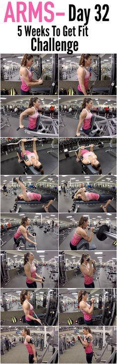 5 Weeks To Get Fit Challenge Day 32-ARMS