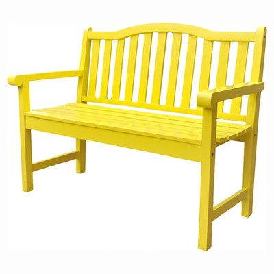 Shine Company Inc. Belfort Wooden Garden Bench & Reviews | Wayfair // Paint my bench (or picnic table) in high shine pop of color?