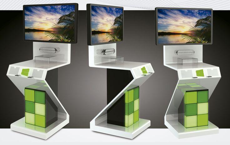 Premium Floor display with green lights.