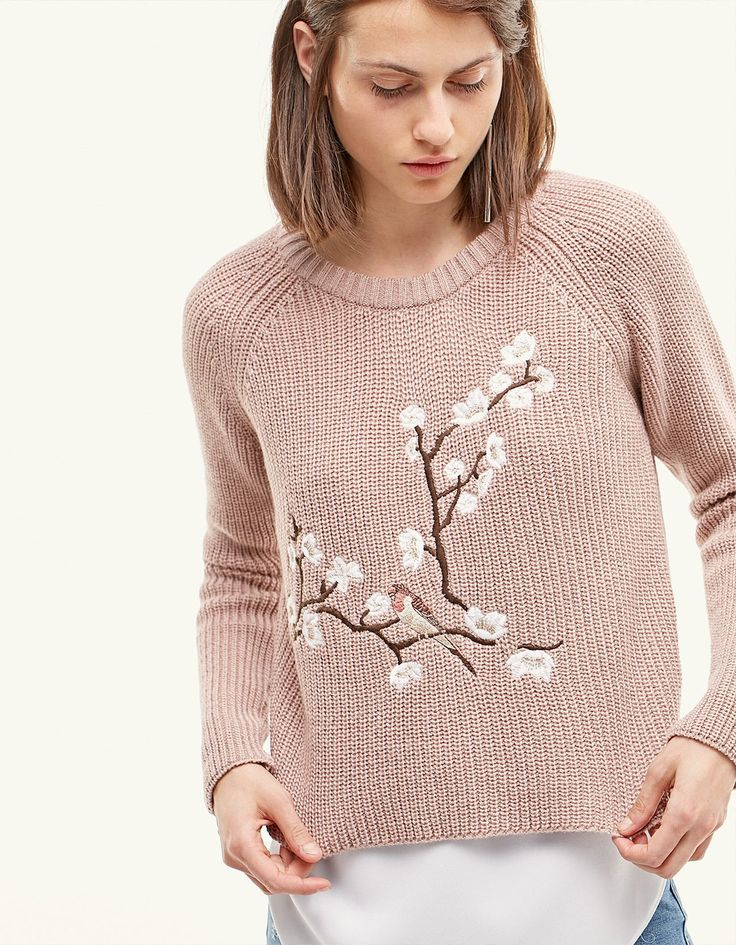 Embroidered jersey - Knitwear | Stradivarius Ukraine