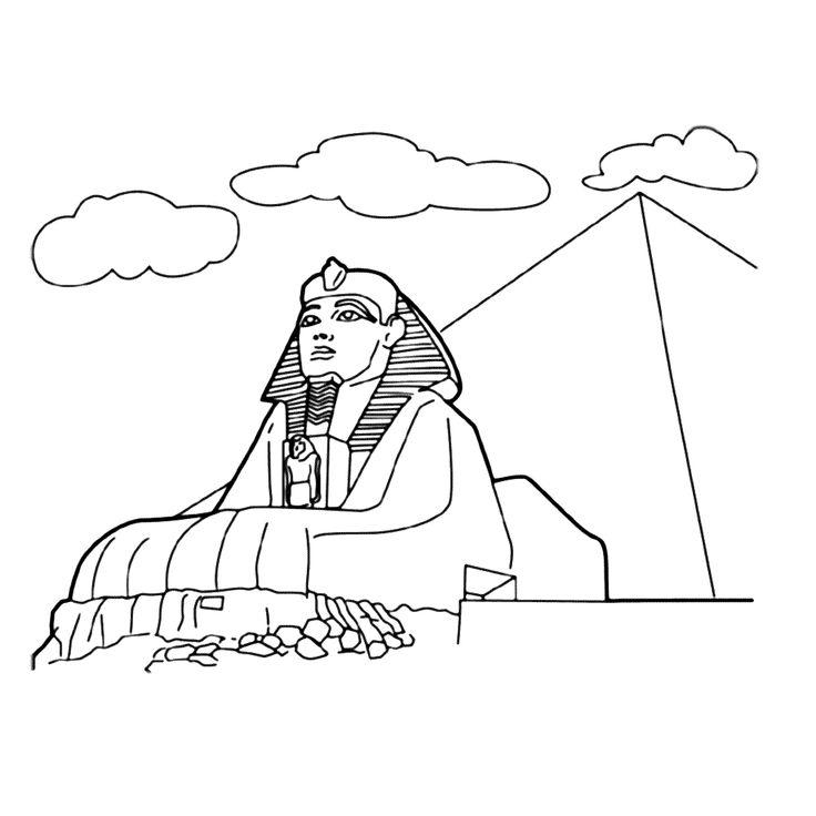 где египетские сфинксы раскраска полагают, что самые