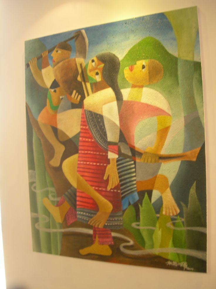 原住民在畫他們的人物時 真的感受得到 那股生命力 那股天生的力量