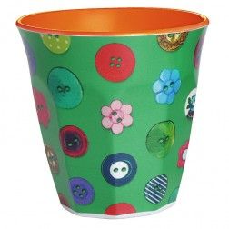 Buttons Melamine Cup Green