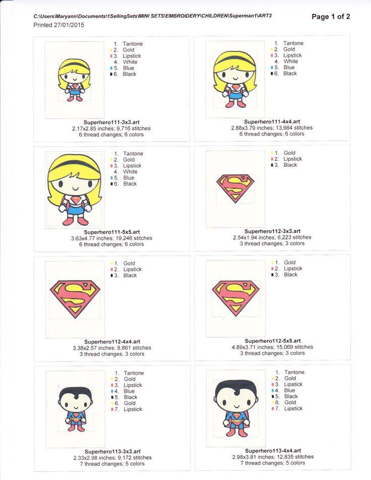 Superman & Superwoman Machine Embroidery