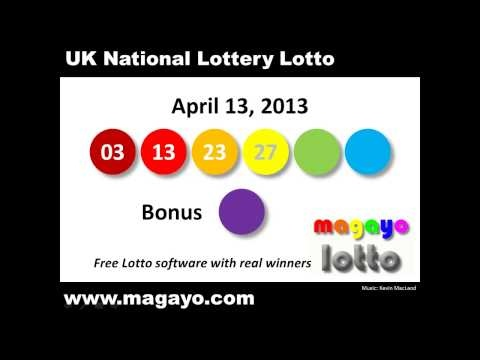 UK National Lottery Lotto drawing results for April 13, 2013. Get the latest and historical UK Lotto results @ http://www.magayo.com/lottery/results_uk_lotto.php