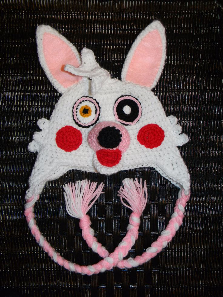 Crochet Five Nights at Freddy's Hat Mangle