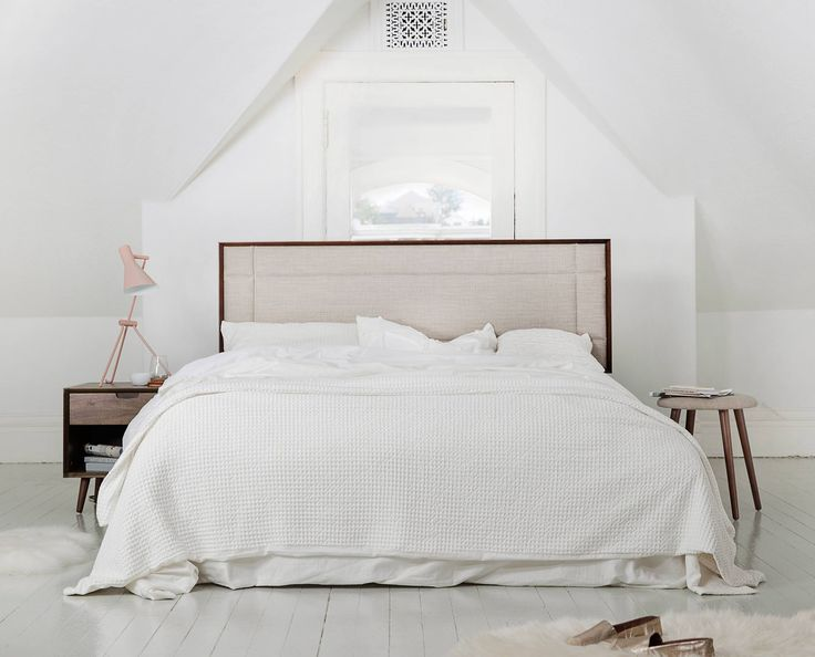 Scandinavian Designs   Transform Your Bedroom Into A Stylish Sanctuary With  The Juneau Bed Offering A Mid Century Feel With A Tailored Linen  Upholstered ...