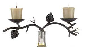 Pine Lodge Wine Bottle Topper