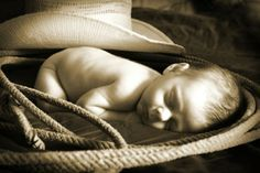 western cowboy newborn photo - Google Search