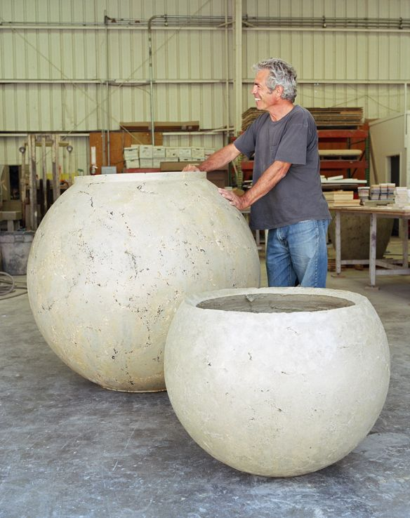 Buddy with Sphere Planters - Buddy Rhodes Studio