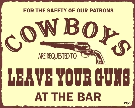 Cowboys Leave Your Guns Western Vintage Metal Bar Sign Wall Art Funny New | eBay