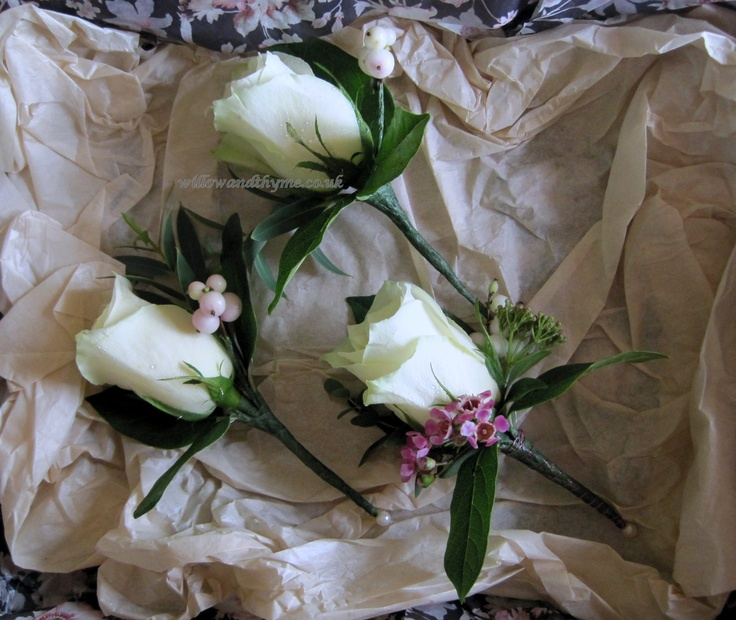 Traditional Rose Buttonholes