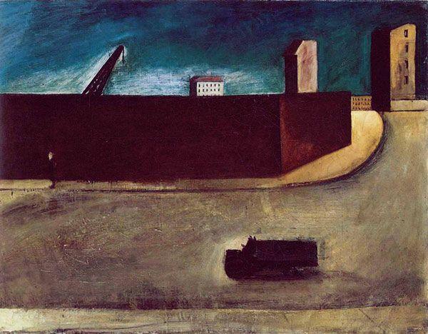 Mario Sironi - Landscape with Truck.