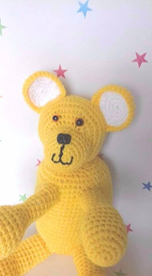Crochet Teddy Bear Stuffed Toy Amigurumi Ted Children's Toy Kids Gift Gift for babies Baby Shower handmade soft toy large teddy by CraftyMillerJM  18.00 GBP  If you go down to the woods today you're sure of a big surprise! Stompy Bear has HUGE feet designed to stamp his mark on your children's hearts. Children big or small will love him when they see his generous sizing.  SPECIAL OFFERS Spend 25 and get free postage using the code UKP0ST (that's a zero) in the UK Spend 35 and get free…