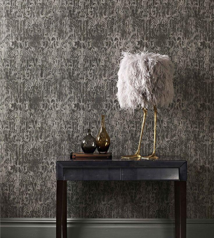 Metallics   Aurora Wallpaper by Prestigious Textiles   Jane Clayton