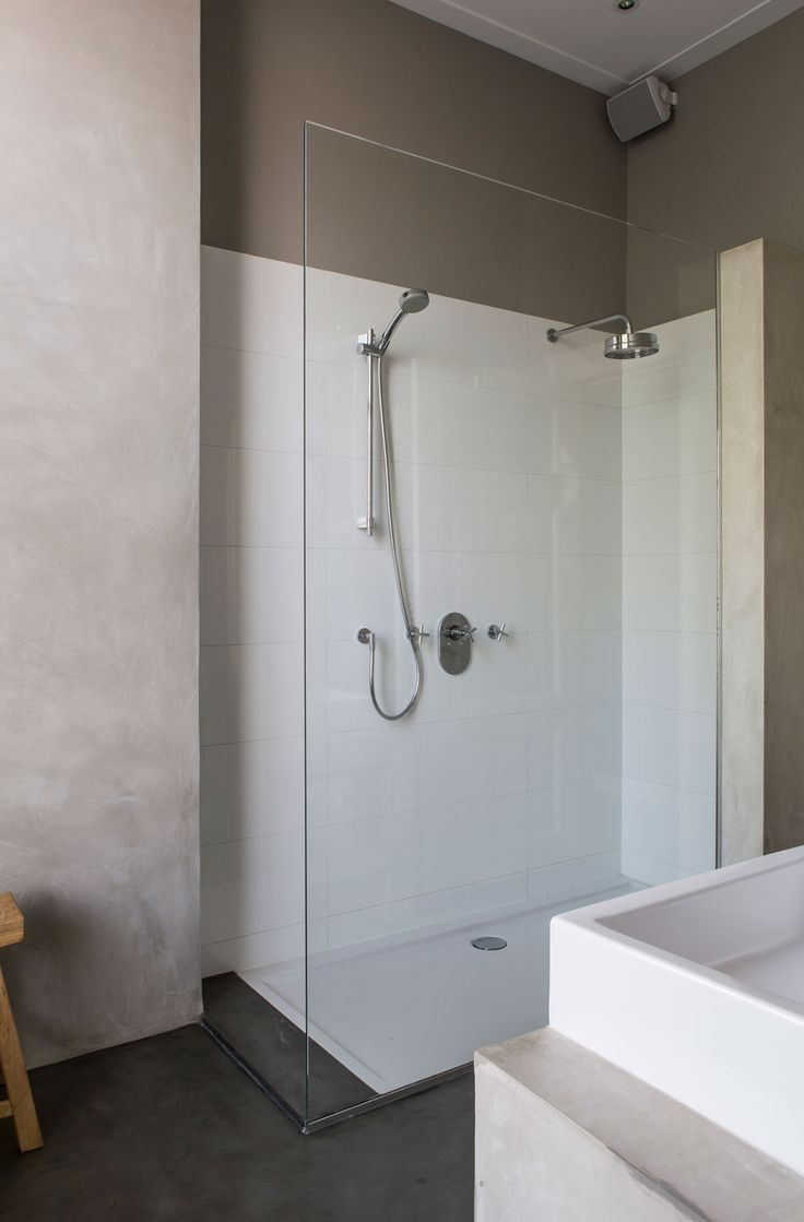 *idea for shower if use a ready made tray - I like the way it is 'inset'