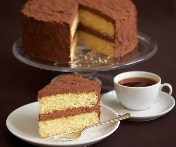 Vanilla Layer Cake with Whipped Rum-Ganache Icing by Fine Cooking