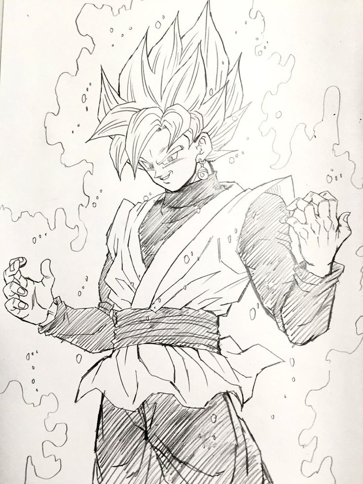 Super Saiyan Rose Black Goku. Image drawn by: Young Yijii. Found by: #SonGokuKakarot