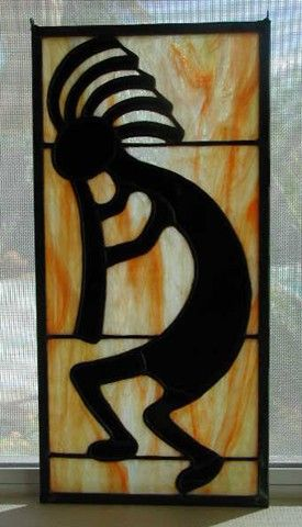 Kokopelli Stained Glass Patterns | kokopelli 8 1 2 x 17 kokopelli is the native american fertility deity ...