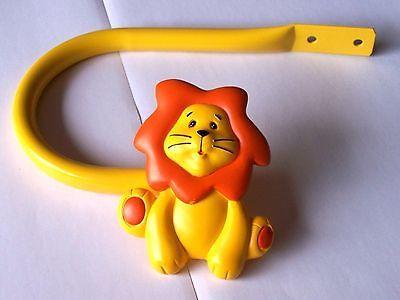 Novelty Bedroom Nursery Animal Lion Orange & Yellow Curtain Tiebacks Hold backs