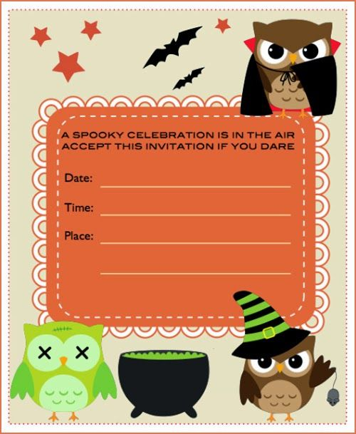free halloween clip art invitations - photo #11