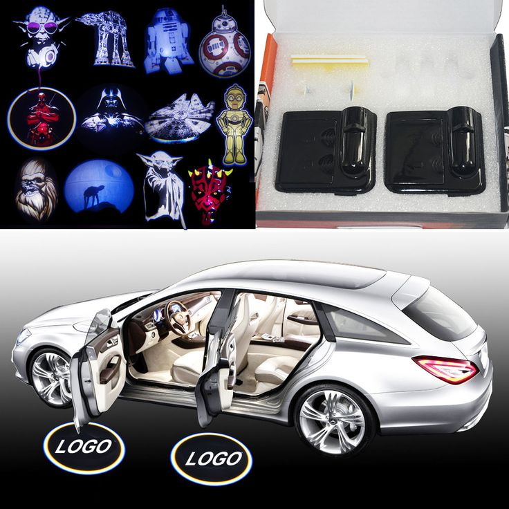 NEW Star Wars Heros Wireless car door LED logo shadow projector welcome lights  | eBay