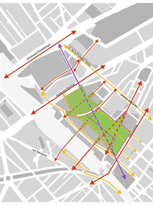 Paisaje y Arquitectura: Martin Luther King, un parque ecológico integral y conector de barrios,Situación: el parque y los diferentes enlaces de la vecindad