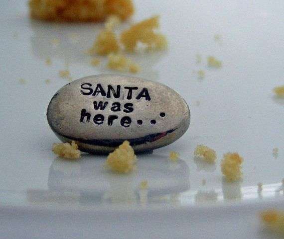 Santa was here word stone for Christmas by LisaMicheleCreations, $5.50