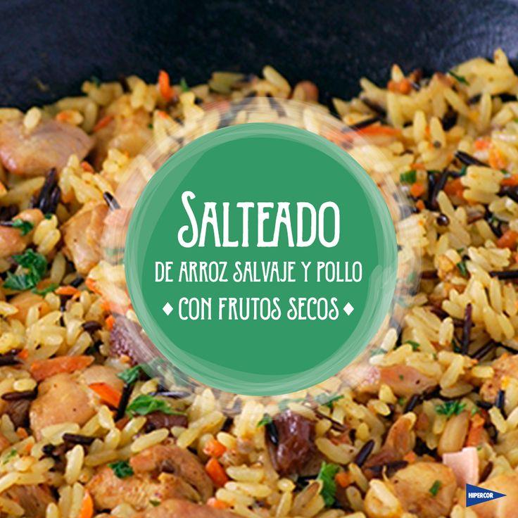 Receta: Salteado de arroz salvaje y pollo con frutos secos