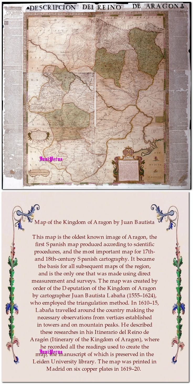 Map of the Kingdom of Aragon by