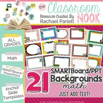 Smartboard And Powerpoint Background Templates Math Theme