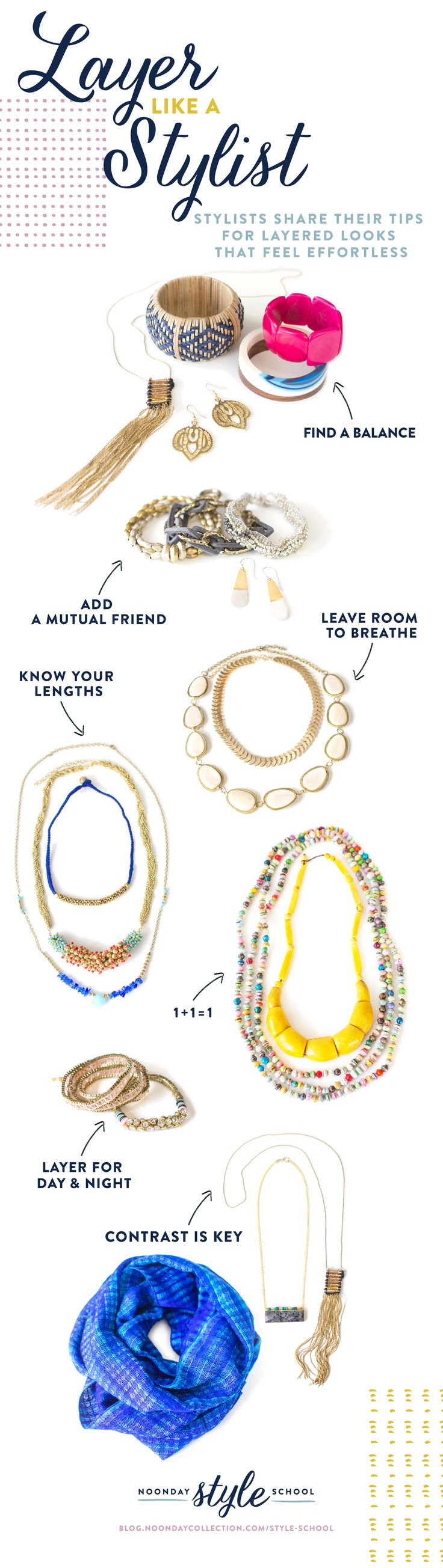 Do you wonder how to layer necklaces so you look put together not over the top? Do you want to know the secrets of creating a perfect arm party?