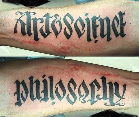 ambigram tatto