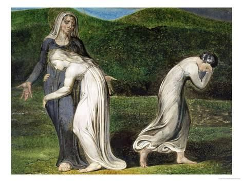 Naomi Entreating Ruth and Orpah to Return to the Land of Moab Reproduction procédé giclée