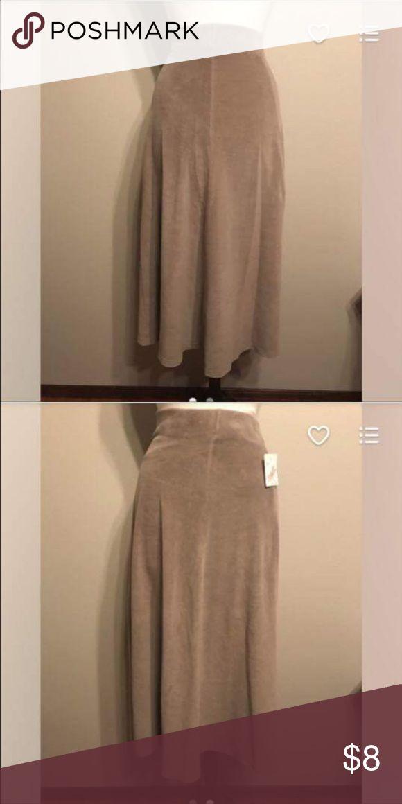 Long tan velour skirt Long tan velour skirt Skirts Maxi