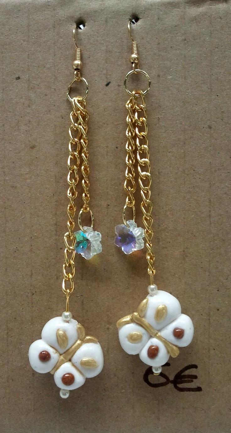 La Girandola Creativa: orecchini pendenti in fimo stile Thun