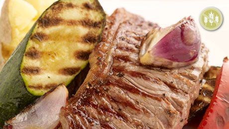 Pan Fried Sirloin Steak with Roasted Root Vegetables