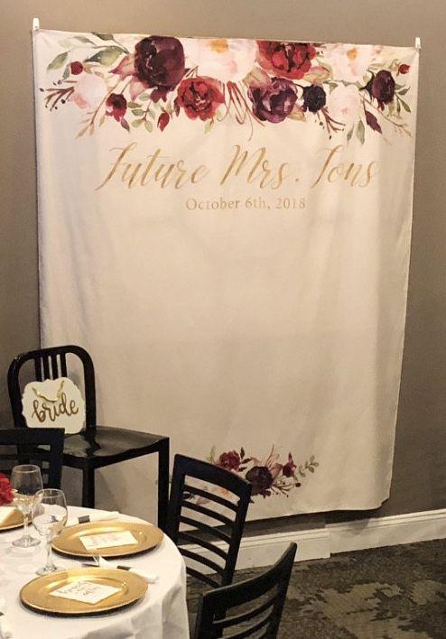 1a8219c09b0e Marsala boho bridal shower photo booth backdrop!
