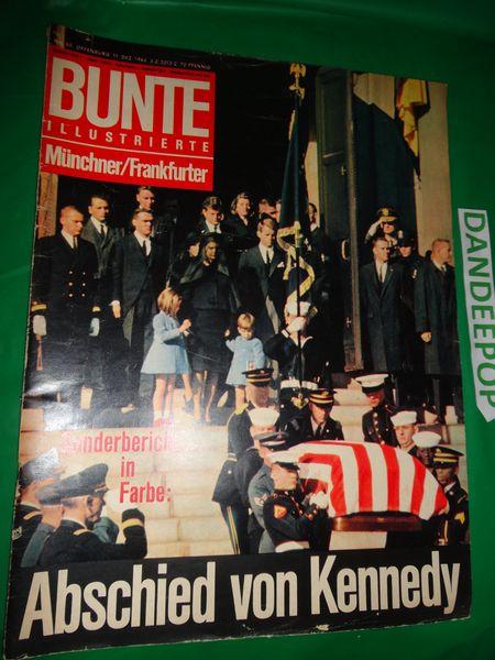 Bunte Illustrierte German Magazine Back Issue December 11, 1963 Kennedy issue find me at www.dandeepop.com