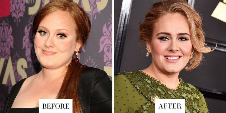 La sopracciglia di Adele sono più scure e molto più definite.